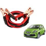 Auto Addict Premium Quality Car 500 Amp Heavy Duty Copper Core Tangle Battery Booster Cable 7.5 Ft For Honda Brio