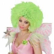 Geen Funky dames pruik neon groen