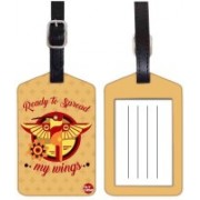 Nutcaseshop WINGS Luggage Tag(Multicolor)