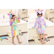 Arther Gold Kids' Unicorn Dressing Gown - Ages 5-8