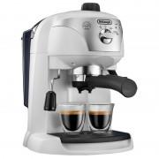 Espressor cu pompa DeLonghi EC221, 1100 W, 1 l, 15 bar, dispozitiv spumare, sistem cappuccino, oprire automata, Alb