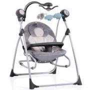 Електрическа бебешка люлка Cangaroo Swing Star, Сива, 356321