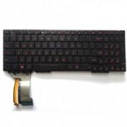 Tastatura Laptop Asus ZX53V Iluminata rosie fara rama layout US