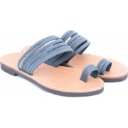 Sandale de dama cu talpa joasa FUNKY MOON gri - marime 39