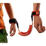 Kids Safety Anti-Lost Wrist Link Leash For Toddlers Orange