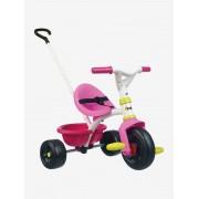 Triciclo Be Fun SMOBY rosa vivo liso com motivo