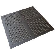 Černá modulární pěnová podlahová děrovaná podložka - délka 122 cm, šířka 122 cm a výška 1,1 cm