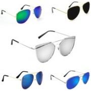 Sulit Aviator, Wayfarer, Cat-eye Sunglasses(Green, Black, Blue, Blue, Silver)
