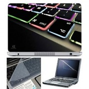 FineArts Laptop Skin 15.6 Inch With Key Guard & Screen Protector - Keypad Color Led