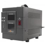 AVR nJoy Akin 2000, 2000VA/1600W, cu releu, LCD Display, functie de intarziere la pornire, functie de selectie a tensiunii, PWAV-20002AK-AZ01B (NJOY)