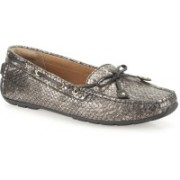Clarks DUNBAR CRUISER PEWTER METALLIC Loafers For Women(Silver)