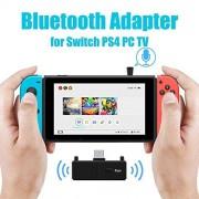 Alician Bluetooth 5.0 Transmisor de Audio Adaptador EDR A2DP SBC baja latencia para conmutador PS4 TV PC USB Type-C Transmisor inalámbrico