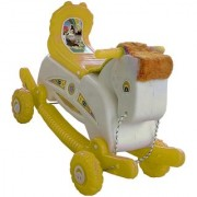 Oh Baby Multi color Rocking Plastic Horse With Wheel SE-RT-34