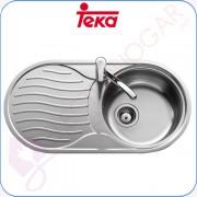 Fregadero Teka DR-80 1C 1E Reversible, Acero inoxidable 18/10, profund