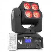 Matrix 22 Quad-Movinghead 4x LED CREE RGBW 10W 9 Gobos 7 Colori DMX