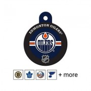 Quick-Tag NHL Circle Dog & Cat ID Tag, Large, Edmonton Oilers