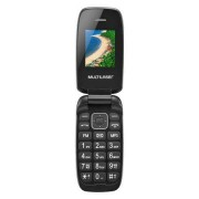 Multilaser Celular Flip Up Dual Chip MP3 Preto Multilaser - P9022 P9022