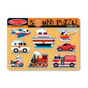 8 Piece Vehicles Sound Puzzle by Melissa & Doug