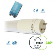 TUBO A LED NANOPLASTICA 10W BIANCO NATURALE 60CM VT-6072-LED6230