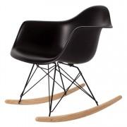 Charles Eames schommelstoel RAR Zwart frame PP zwart