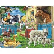 Set 4 Puzzle-uri Animale Domestice, 7 piese