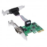 I/O, PCI Express to Serial, MAKKI Low Profile PCI-E card to 2 x Serial port (MAKKI-PCIE-SERIAL-LP)