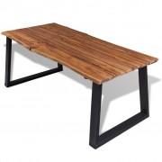 vidaXL Masă de bucătărie din lemn masiv acacia, 180 x 90 cm