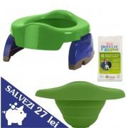 PACHET ECONOMIC VERDE: olita portabila + liner reutilizabil + 10 pungi