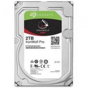 Твърд диск seagate ironwolf pro 2tb 3,5 sata, 128mb cache, st2000ne0025