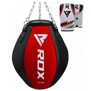 RDX okrugla vreća za boksanje za jake udarce + rukavice