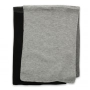 Eșarfă bărbătească din lână în nuanțe de gri, grafit și negru 9972