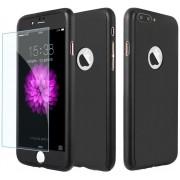 Husa Full Cover 360 folie sticla iPhone 8 Plus Negru