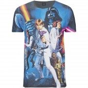 Geek Clothing Camiseta Star Wars Póster - Hombre - Azul/negro - M - Negro