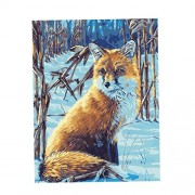 ELECTROPRIME® Acrylic Paint by Number Kit DIY Painting Canvas Picture Home Decor Red Fox