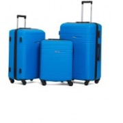 """Gamme ABS Hardsided Travel 3 Piece Luggage Spinner Set of (20"""", 24"""", 28"""") Trolley, Suitcase Expandable Check-in Luggage - 28 inch(Blue)"""