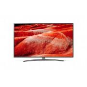 Televizor UHD LG 65UM7660PLA, 164 cm, Smart TV, 4K, Smart ThinQ, Procesor Quad Core, Bluetooth 5.0, Wi-Fi, Sunet stereo, Clasa energetica A, Negru/Argintiu