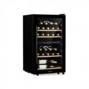 Klarstein Barossa 34D, охладител за вино, 2 зони, 34 бутилки, стъклени врати, сензорен (HEA8-Barossa-29)