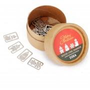 Generic 20pcs 4 Estilos De Metal Caja De Marcadores Recuerdos Línea De Marcador Con -Christmas Caja