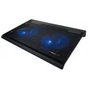 """""""Base TRUST Azul 2x Ventoinhas Notebooks até 17.3"""""""" - 20104"""""""""""""""""""""""