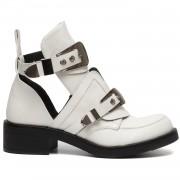 ComeGetFashion Boots Buckle Up White - Enkellaarzen