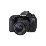 Câmera Canon EOS 80D com Lente de 18-55mm
