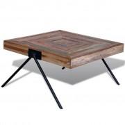 vidaXL Mesa de centro com pernas em forma de V, madeira teca reciclada
