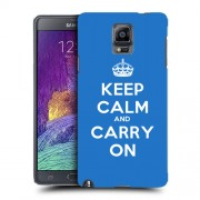 Husa Samsung Galaxy Note 4 N910 Silicon Gel Tpu Model Keep Calm Carry On