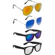 NuVew Aviator, Wayfarer Sunglasses(Blue, Golden, Green, Silver, Violet)