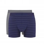 Ten Cate Heren Boxershorts 2-Pack Purple Stripe