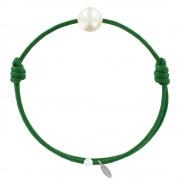 Les Poulettes Bijoux Bracelet La Perle de Culture Blanche des Poulettes - Classics - Vert