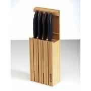 Stojan na 4 keramické nože, vyrobeno z bambusu