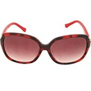 Calvin Klein Over-sized Sunglasses(Red)