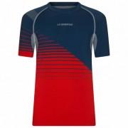 La Sportiva - Complex T-Shirt - T-shirt technique taille S, rouge/bleu