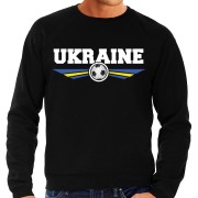 Bellatio Decorations Oekraine / Ukraine landen / voetbal sweater zwart heren